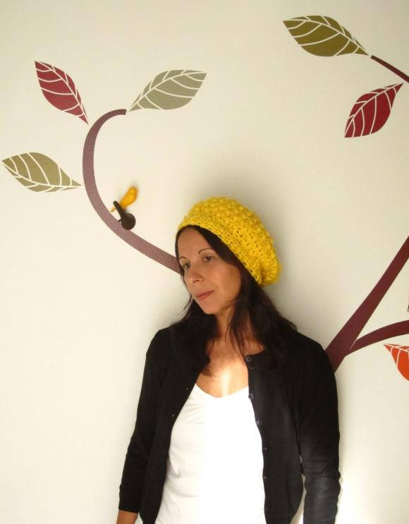 863a818a67 The Raspberry Beret. Fun Crochet Cloche Hat In Canary Yellow on Luulla